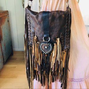 ♥️ Whiskey Lee ♥️ Leather Heart Crossbody Bag